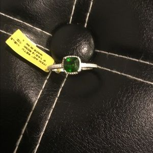 Jewelry - Russian Diopside Solitaire Sterling Silver Ring